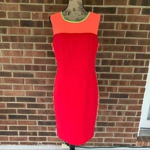 Like new Tahari color block sheath dress